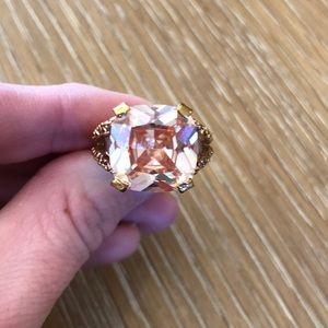 Francesca's blush & rose gold cocktail ring
